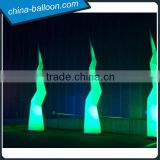 factory outlet 3m color changing inflatable lightning model/ led tube cone for decoration