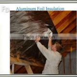 foil faced fiberglass duct heat shield aluminum insulation cover