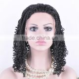 2016 New designs for afro braided wigs afro kinky braiding hair