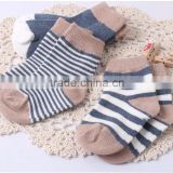 baby cotton tube socks with stripes