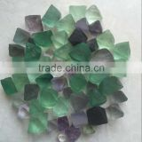 Natural rainbow raw fluorite stone for jewelry