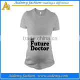 Water Printed Wholesale Blank Maternity T Shirts
