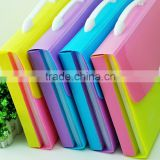 Best selling 13 pocket pp plastic bright color expanding file case with clips button supplier and manufacturer