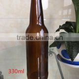 High Quality 330ml amber/brown beer glass bottle ,glass bottle
