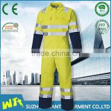 custom fluorescent construction workwear overalls engineering uniform workwear coveralls with reflective tape