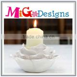 New Craft Wholesale Handmade Flower White Candle Holder
