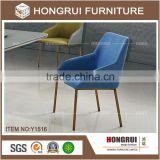 wholesale and cheap chinese brass plating leg chair /fabric table chair/study table and chair set