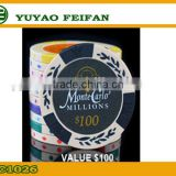 Factory directly sale promotional cheap clay poker chips customized challenge poker chip
