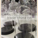 wooden base glass dome displays glass bell jar cloche