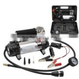 H10060 Portable In Car Air Compressor Gauge Bike Balls Tyre Inflator Dual Pressure Pump