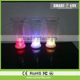 Factory sell lighting promotional champagne led glass cups