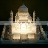 Marble Taj Mahal Replica For Decoration With Lighting