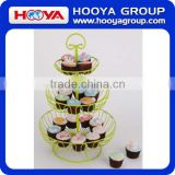 3 tier iron wire fruit basket cupcake stands