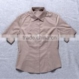 ladies formal shirt Hot Style BS5044 lady uniform shirt design