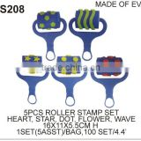 EVA STAMP (S208) 5PCS ROLLER STAMP SET