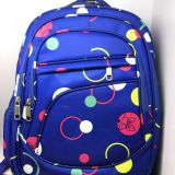 Boys and girls school bag, durable polyester backpack, large capacity shoulder bookbag, bag factory