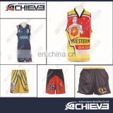2017 latest best basketball jersey design ,black /blue /yellow color basketball uniform design