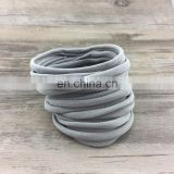 Bulk wholesale hair accessories pretty light gray baby hose headband elastic hair band rope