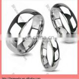 cheap price Shining finished carbine finger ring jewelry in stainless steel silver copper