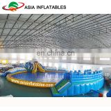 Customize Shark Inflatable Water Park With Swimming Pool And Water Toys