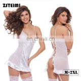 China Factory Competive Price White Hot Sheer G String Sexy Body Lingerie