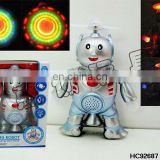 Spinning flashing musical dancing robot HC92687