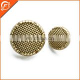 nickle free spraying gold color abs sunflower button for coat