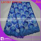 african lace fabrics voile lace charinter lace african fashion lace fabric cotton lace LA1061 royal
