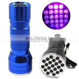 395 nm Ultra Violet Black light CSI Inspection Light 21 LED UV Flashlight