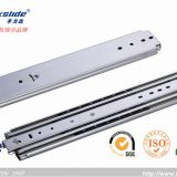 76mm width heavy duty drawer machinery push to open slide rail 300mm