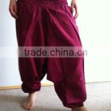Organic Cotton Harem Trouser Pants Baggy Loose Genie jumpsuit Yoga Boho Gypsy Indian women Ladies Belly Dance Wide Leg Pants