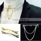 New Mens Tie Clip Bar Clasp Cravat Pin Skinny Collar Silver Gold Necktie Brooch