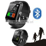 U8 smart phone watch with camera and bluetooth,sports pedometer health watch phone