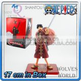 MINI QUTE 17 cm japanese anime one piece action figure red clothes palgantong Monkey D Luffy brinquedos boys in box NO.MQ 077
