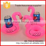 Top Mini Cute Red Flamingo Floating Inflatable Drink Holder Pool Bath floating drinks holder