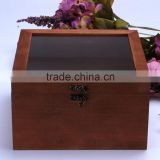 Wholesale Custom Glass Lids Wooden Box For Preserved Fresh Flower