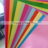 A4 80g color copy paper color card Origami 500 / pack specification 210*267mm thickness 0.1mm factory manufacture                                                                         Quality Choice