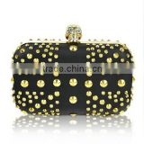 2014 wholesale fashion ladies rivet evening bag handle clutch purse bags