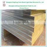 Factory price rockwool sandwich panel/fireproof rockwool insulation panel building materials construction materials