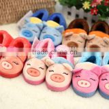 children's shoes baby pig shoes Children's warm home cotton slippers family winter shoes