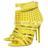 Women's Summer High Heel Gladiator Sandals With Back Zipper Ladies High Heel Shoes                                                                         Quality Choice