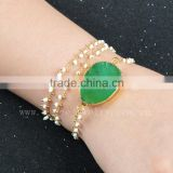 wholesale crystal druzy bracelet crystal quartz bracelet bangle natural crystal quartz bangle chain necklace & bracelet