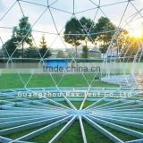 Geometric dome big steel event dome tent luxury outdoor zelte 6x6m indian wedding tent roof top tent with factory price
