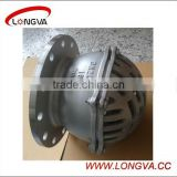 Factory price stainless steel PN10 flanged foot valve