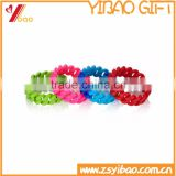 2015 New Design Colorful Twist Bracelet, Dichromatic Mix Color Wristband, Customs Design Silicone Wrist Bands