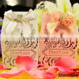 hot selling red flowers decorate wedding favor, royal and elegent gift boxes for sale(MWC-024)