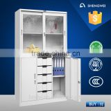 Online office metal cabinet glass door book almirah