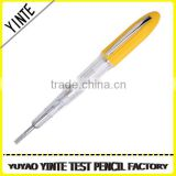 China Manufacture Ordinary test pen /screwdriver voltage tester with AS plastic and long-life neon light