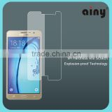 Ainy 2015 new products 0.2mm corning invisible tempered glass screen shield for Samsung Galaxy on7