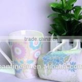 ceramic tumbler with logo blue ceramic mug wholesale, glaze coffee cup,